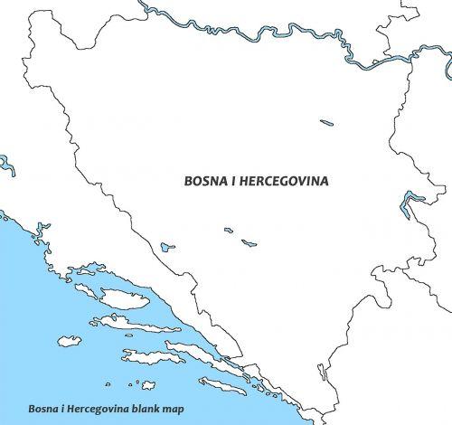 bosnia and herzegovina white map world