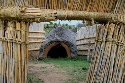 bosotho dwelling thatched hut coned entrance