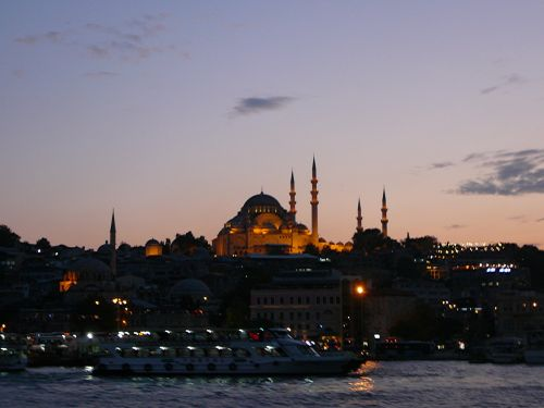 bosphorus turkey istanbul by night