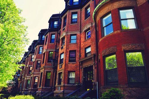 Bostonas,Massachusetts,miestas,miesto,kaimynystėje,raudoni akmenys,eiliniai namai,namai,senas,architektūra,orientyras,istorinis,hdr