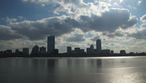 Bostonas,Massachusetts,Charles upė,panorama,vanduo,upė,debesys