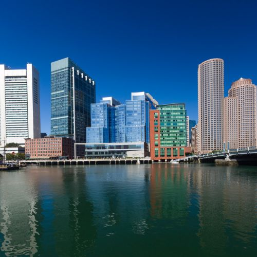amerikietis, architektūra, Bostonas, pastatas, pastatai, verslas, miestas, miesto panorama, centro, finansinis, Massachusetts, šiuolaikiška, panorama, upė, dangus, panorama, miesto, usa, vanduo, kranto, Bostono panorama