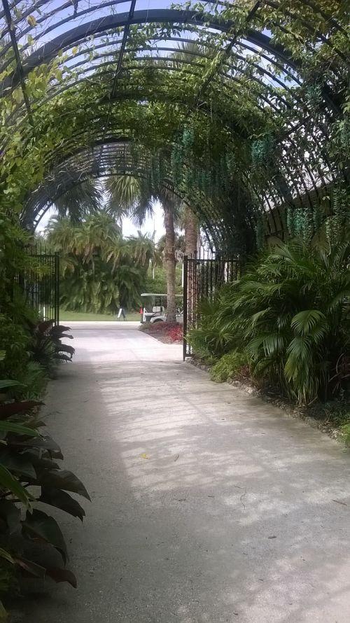 botanical garden archway entrance
