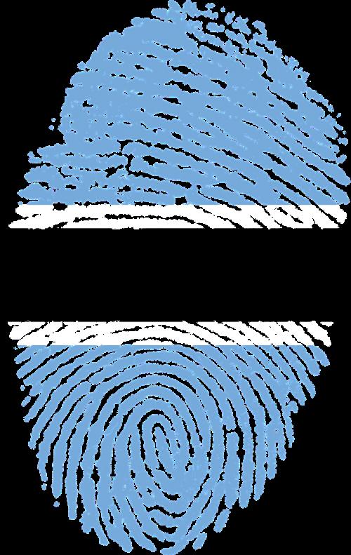 botswana flag fingerprint