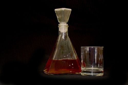 bottle brandy glass