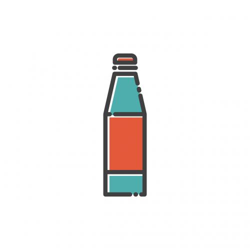 bottle icon silhouette