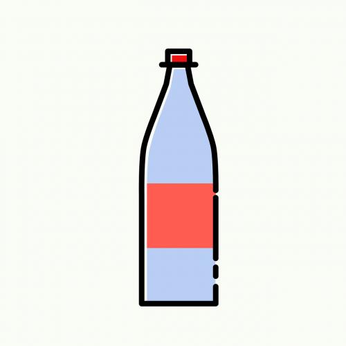 bottle pet mineral water