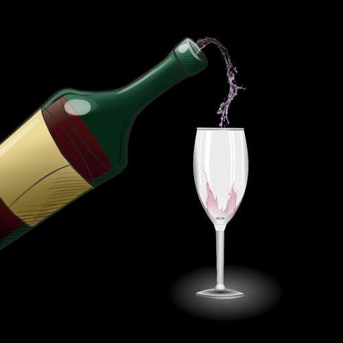 bottle bottle of wine glass