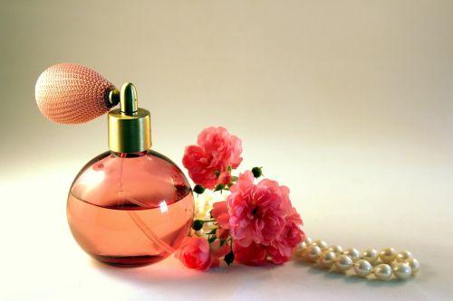 bottle perfume roses