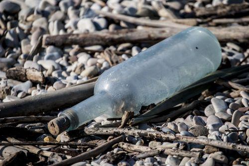 bottle beach glass