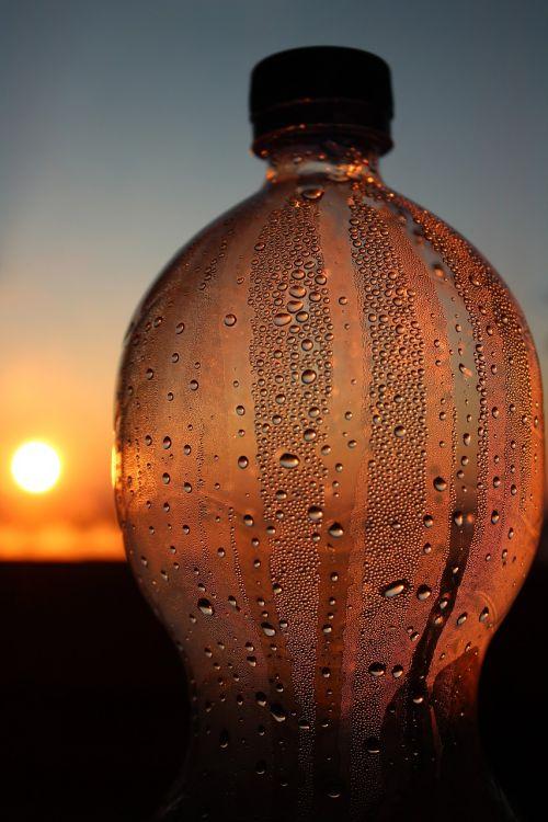 bottle transparency sunset