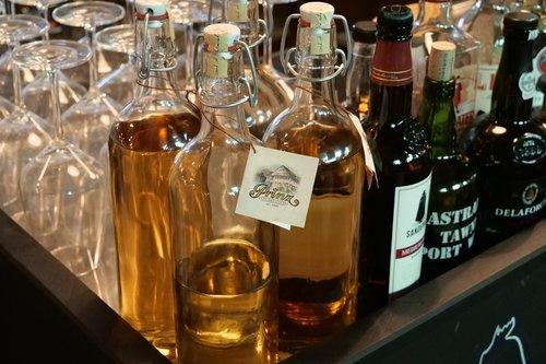 bottle  glass  drink