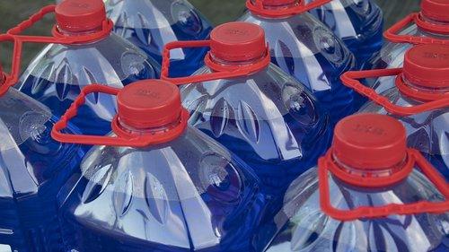 bottle  water  blue