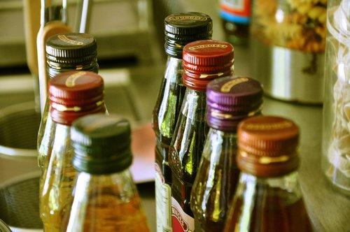 bottle  spices  kitchen