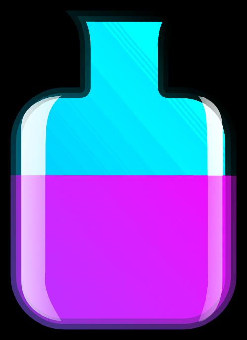 bottle container half