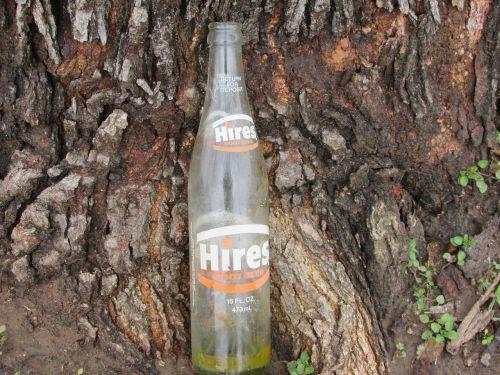 bottle trash root beer