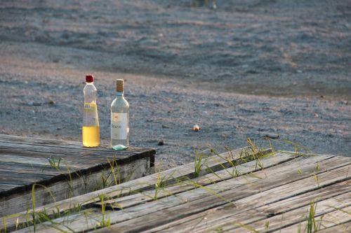 bottle alcohol still life