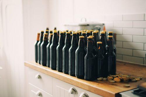 bottle caps beer bottles beer