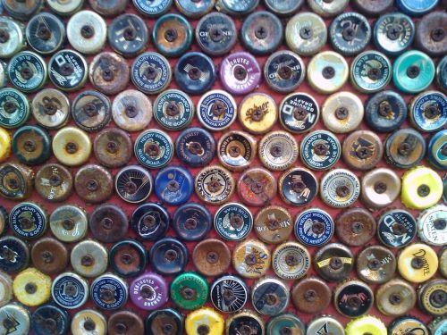 bottle caps design colorful