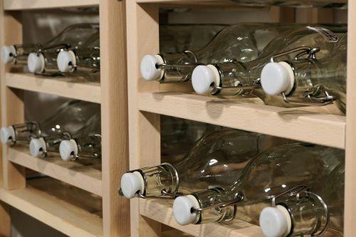 bottles shelf empty