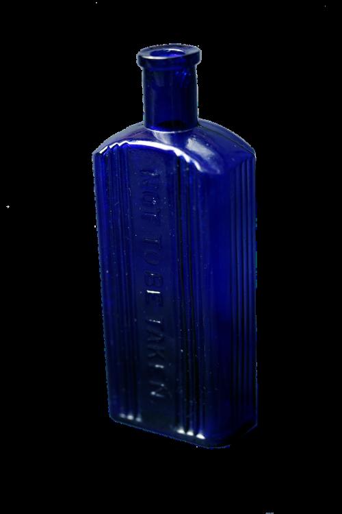bottles old fashioned cobalt blue glass