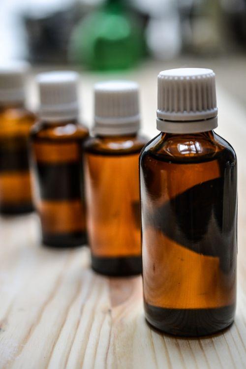 bottles medicine oils