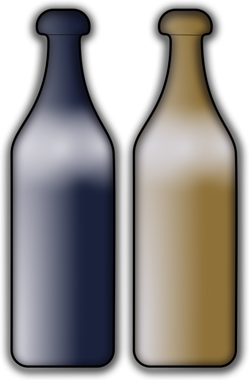 bottles glassware blurred