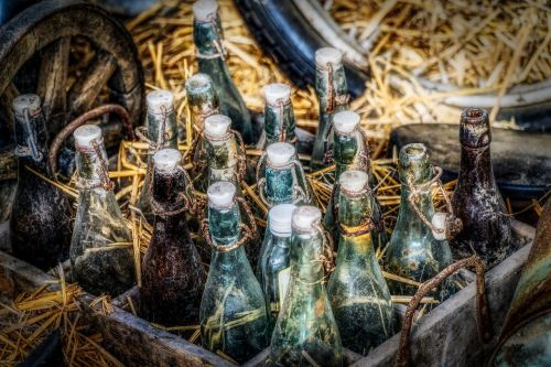 bottles beer bottles box