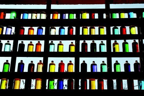 bottles colors ocher