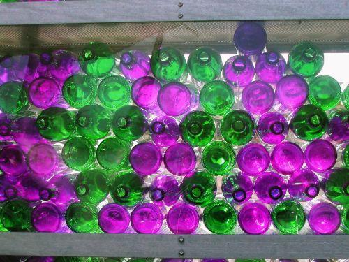 bottles glass bottles wall