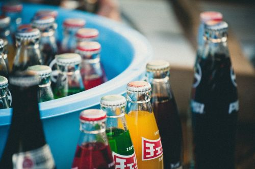bottles soda drinks