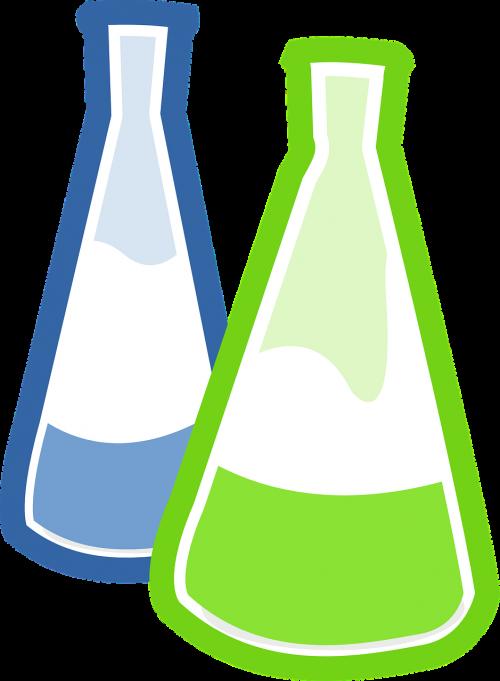 bottles blue green