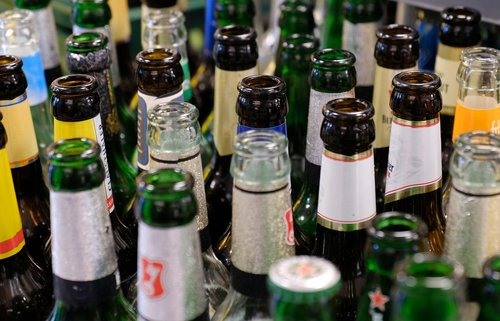 bottles  empties  glass