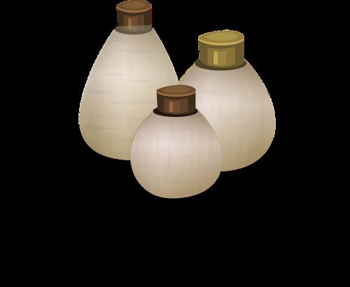 bottles perfume lotion