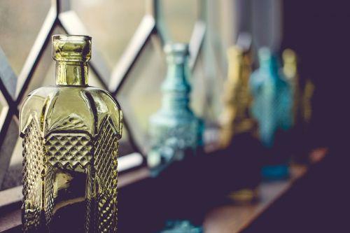 bottles window glass