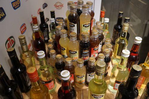 bottles vinegar oil
