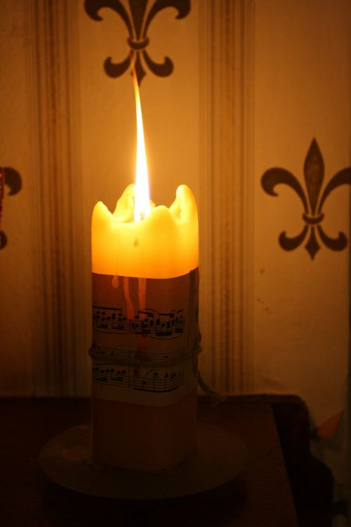 Candle And Music Notes