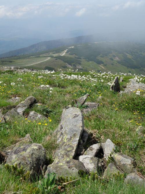 boulders mountains beskids