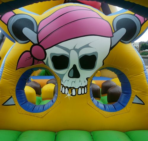 bouncy castle pirate air cushion