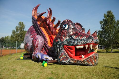 bouncy castle inflatable slide dragons