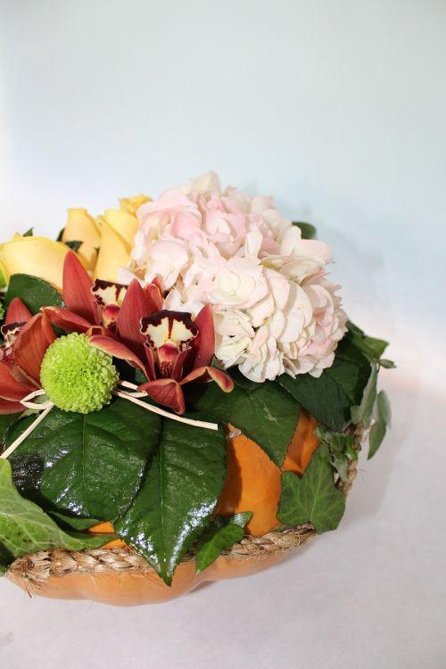 bouquet pumpkin composition