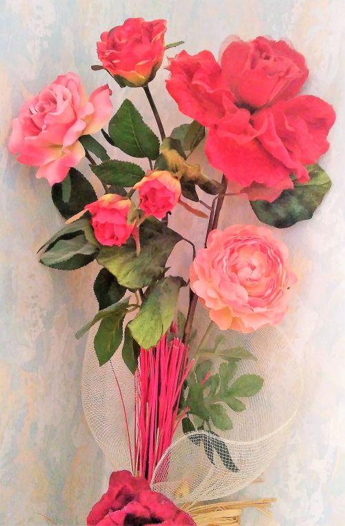 bouquet roses ornamentation