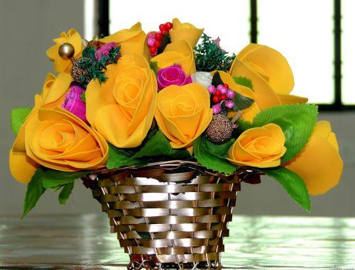 bouquet dry flowers decoration