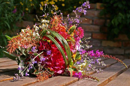 bouquet colorful flowers