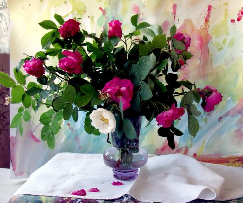 bouquet flowers white