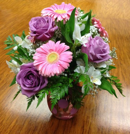 bouquet rose gerber daisy