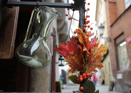 bouquet  glass  ornament