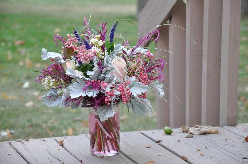bouquet flower arrangements balcony