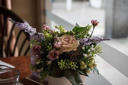bouquet of flowers  artificial flowers  decoration