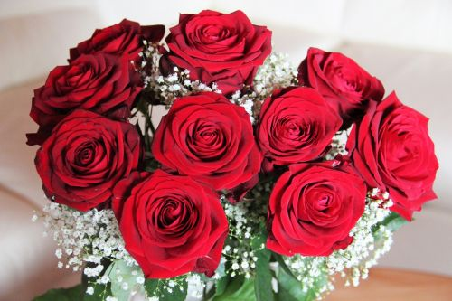 bouquet of roses baccarat red roses